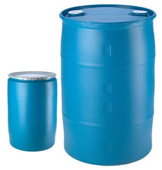 Blue Open and Close Top Plastic Drums