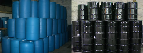 Plastic and Steel Stacked Barrels